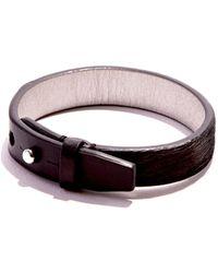 JAM MMXIV - Jet Black Calf-hair Simple Bracelet - Lyst
