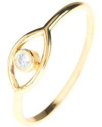 LÁTELITA London - Cosmic Mystic Eye Ring Gold - Lyst