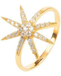 LÁTELITA London - Star Burst Ring Gold - Lyst