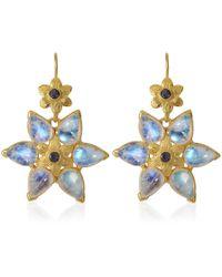 Emma Chapman Jewels - Bellatrix Moonstone Iolite Earrings - Lyst