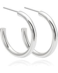 Astrid & Miyu - Basic Large Hoop Earrings In Silver - Lyst