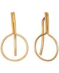 Dutch Basics - Pin Earrings Gold Plated - Lyst