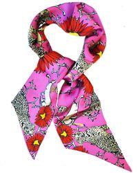 Jessica Russell Flint - Silk Headband In Folk Leopard Print - Lyst