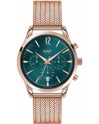 Henry London - Ladies 39mm Stratford Chronograph Stainless Steel Bracelet Watch - Lyst