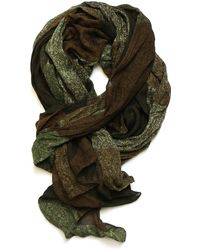 lords of harlech - Patchwork Camo Scarf In Olive - Lyst