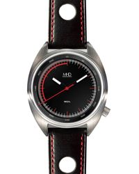 MHD Watches - Mhdsq1, Black Rally Strap Red Stitched - Lyst