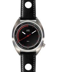 MHD Watches - Mhdsq1, Black Rally Strap Black Stitched - Lyst
