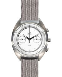 MHD Watches - Mhd Cr1 Chronograph Watch With White Dial & Milanese Strap Metal - Lyst