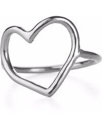 Chupi - My Heart Is Open Ring Silver - Lyst