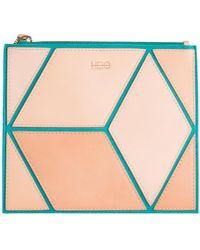 HEIO - The Cube Turqueta Medium Clutch - Lyst