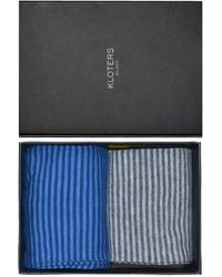 KLOTERS MILANO - Blue And Grey Striped Socks Pack - Lyst