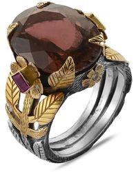 Emma Chapman Jewels - Enchantress Maroon Tourmaline Ruby Diamond Ring - Lyst