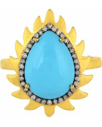 Meghna Jewels - Flame Turquoise Ring - Lyst
