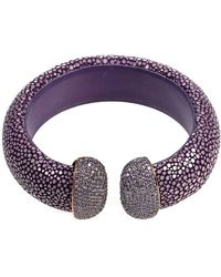 LÁTELITA London - Stingray Cuff Plum & Amethyst - Lyst