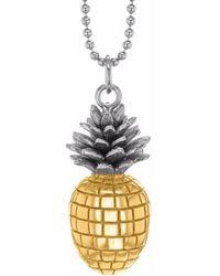 True Rocks large pineapple pendant necklace - Metallic VrpyEZh88