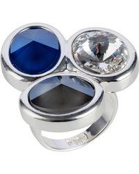 Nadia Minkoff - Oval Triple Ring Gold Crystal Ab - Lyst