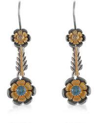 Emma Chapman Jewels - Divine Blue Topaz Diamond Earrings - Lyst