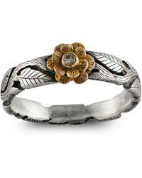 Emma Chapman Jewels - Double Daisy Diamond Flower Ring - Lyst
