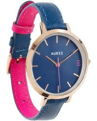 Auree - Montmartre Rose Gold Watch With Royal Blue And Hot Pink Strap - Lyst