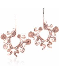 Nooneh London - Maya Statement Earrings Rose Gold - Lyst