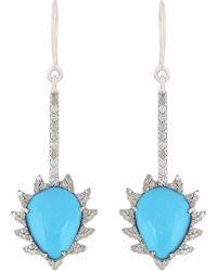 Meghna Jewels - Turquoise & Diamonds - Lyst