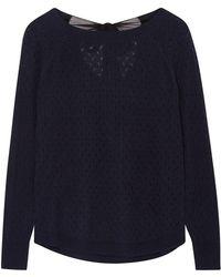 ILLE DE COCOS - Fantasy Bow Sweater Navy & Black - Lyst