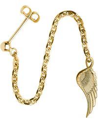 CarterGore - Gold Wing Single Long Drop Earring - Lyst