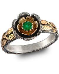 Emma Chapman Jewels   Buttercup Gold Emerald Ring   Lyst