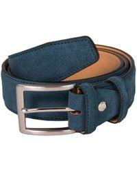 40 Colori - Petrol Blue Trento Leather Belt - Lyst