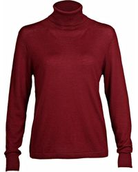 Asneh - Cabernet Mathilda Cashmere Roll Neck Sweater - Lyst