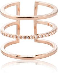 Astrid & Miyu - Triple Bewitched Ring In Rose Gold - Lyst