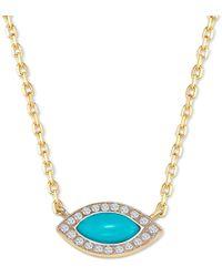 Elham & Issa Jewellery - Awe Eye Diamond Necklace - Lyst