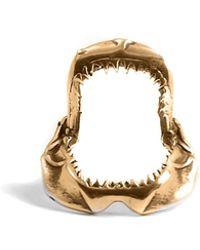 Lee Renee - Shark Jawbone Tie Pin Gold - Lyst