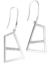 Ona Chan Jewelry | Double Drop Earring With Sapphire Silver | Lyst
