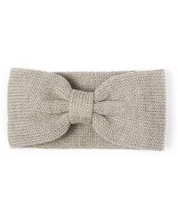 Alma Knitwear - Bow Merino Earwarmer Beige - Lyst