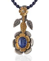 Emma Chapman Jewels - Lily Kyanite Diamond Pendant - Lyst