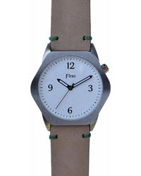 Finn Watches - The Causeway White With Tan Strap - Lyst