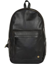 MAHI - Leather Classic Backpack Rucksack In Black Leather - Lyst
