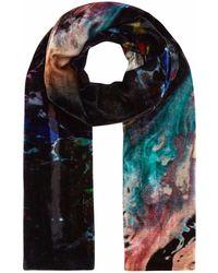 Klements - Long Velvet Scarf In Orbit Print - Lyst