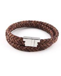 Tissuville - Stark Bracelet Tobacco Brown Gold - Lyst