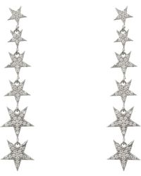 LÁTELITA London - Graduated Star Drop Earring Sterling Silver - Lyst