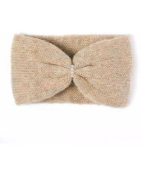 Alma Knitwear   Daphne Alpaca Silk Earwarmer Beige   Lyst