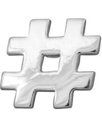 Edge Only - Hashtag Lapel Pin Silver - Lyst