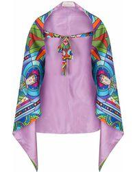Jennifer Rothwell - St Patrick's Print Reversible Lilac Wrap - Lyst