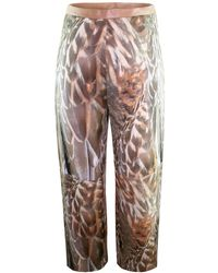 Claire Andrew - Feather Print Cropped Trouser - Lyst