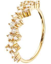 Lily & Roo - Gold Diamond Style Cluster Ring - Lyst