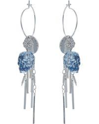 Nadia Minkoff - Skull Cluster Earring Blue Shimmer - Lyst