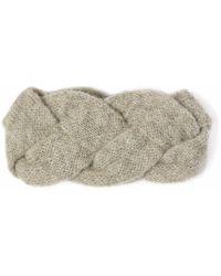 Alma Knitwear - Iris Alpaca Silk Earwarmer Grey - Lyst