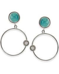 Vintouch Italy - Satellite Amazonite Hoop Earrings - Lyst