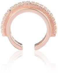Astrid & Miyu - Fitzgerald Circle 2.0 Ear Cuff In Gold - Lyst